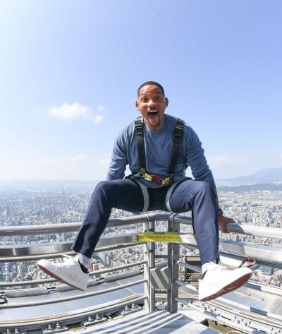 威爾史密斯登高台北101 笑曝「片酬少一份」