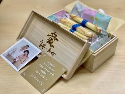志玲姊姊的木盒喜餅  原來背後有個溫暖故事