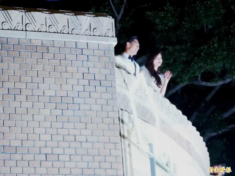 林志玲婚宴南美館前湧人潮 粉絲:比跨年晚會更熱鬧