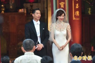 林志玲網狀珠飾婚紗出人意料 林莉:會帶動流行