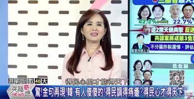 韓國瑜再冒金句「得民調得痔瘡」 安幼琪驚呆:為何總跟屁屁有關?