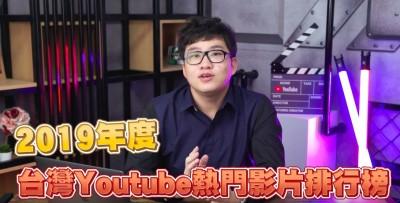 2019十大Youtube熱門榜出爐 他竟直接包辦2名