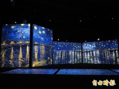 《再見梵谷》光影體驗展 6公尺屏幕飽覽經典作品