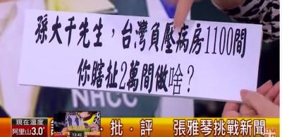 又造謠?孫大千曝台灣「兩萬間負壓病房」 張雅琴打臉再捅韓國瑜