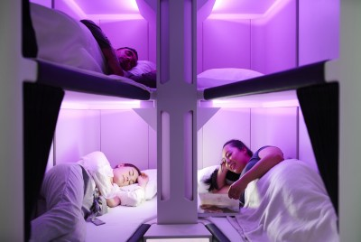 紐航創新Economy Skynest 搭經濟艙也可全平躺