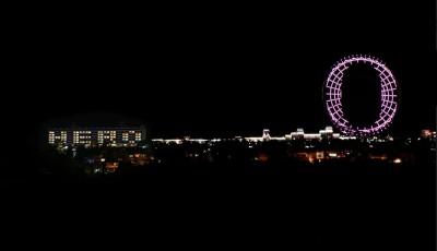 歡慶連續多日零確診  天空之夢摩天輪、麗寶福容飯店推燈光秀
