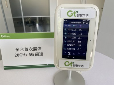 亞太電信首度展示28GHz 5G大頻寬  下載網速有這麼快