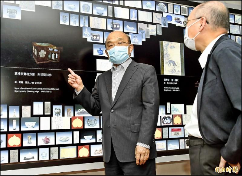【藝術文化】推廣振興三倍券配套優惠 蘇揆:現在是參觀故宮最佳時機