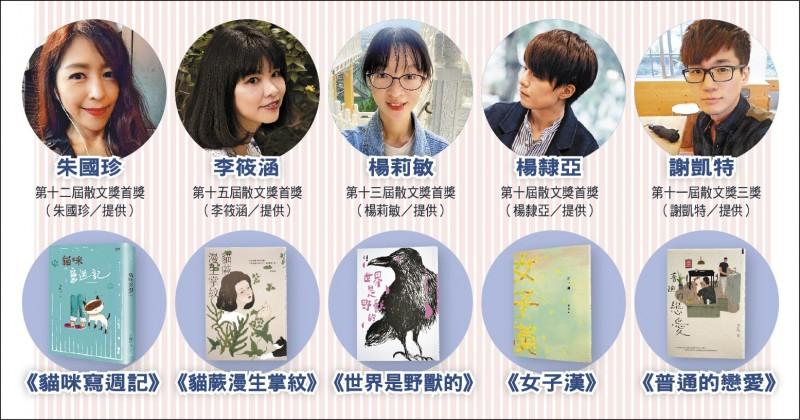 【自由副刊】近年得獎者動態.散文篇