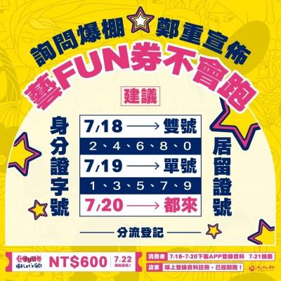 文化部「藝FUN券」開放下載 1小時內衝破30萬人註冊