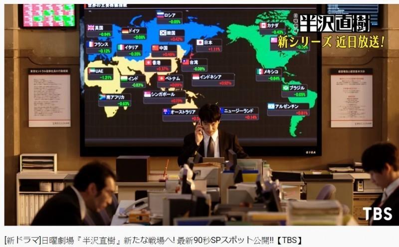 22%超高收視率! 《半澤直樹2》首播出現台灣國旗