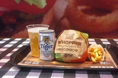 免費升級喝啤酒 虎牌啤酒x漢堡王推酒堡招牌餐