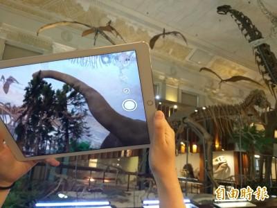 恐龍復活了!台博館AR技術增添導覽趣味