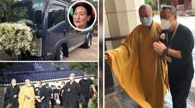 曾志偉送亡妻最後一程 香港寶蓮寺火化