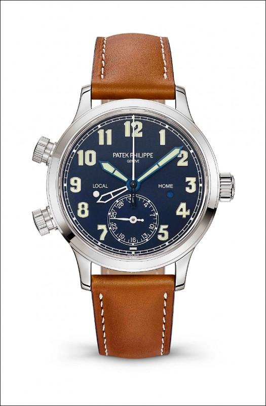 【消費快遞】百達翡麗飛行員錶 中性風格 尺寸大小適中男女皆宜 鏤空與實心指針標示兩地時間 展現品牌精神