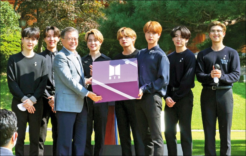 BTS赴青瓦台演說 捐贈禮物2039年開封