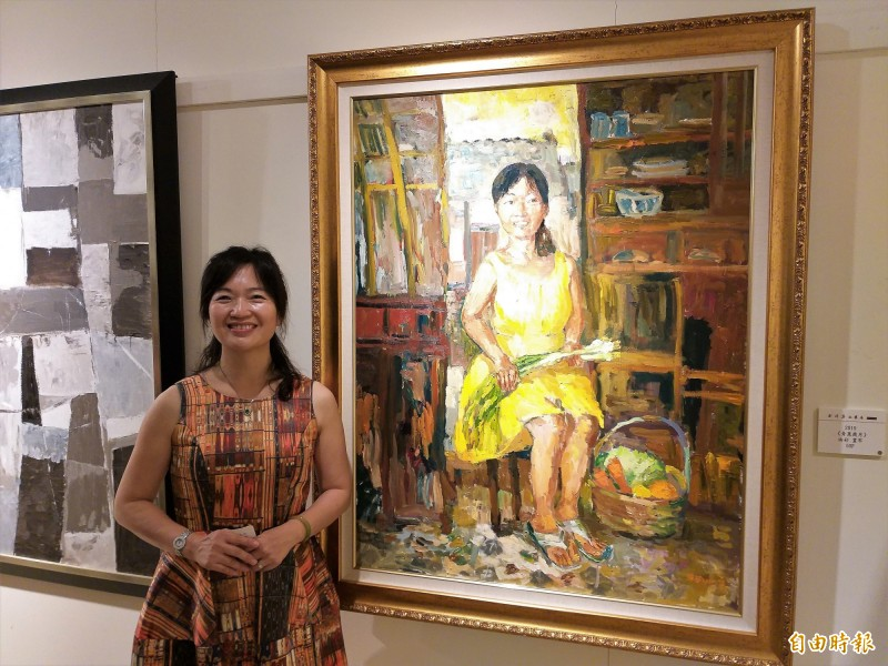 分享心中藝術花園 司法界畫家劉婷瑟舉行台北首展