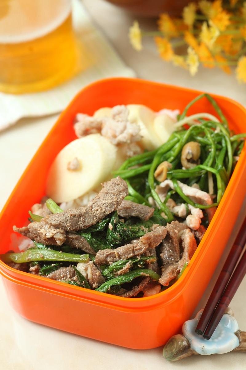 沙茶牛肉炒油菜
