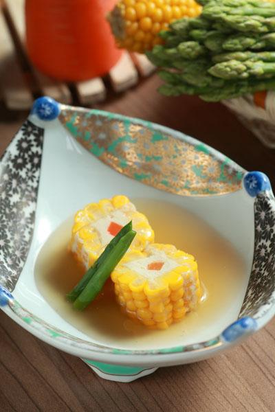 甜玉米豆腐蒸