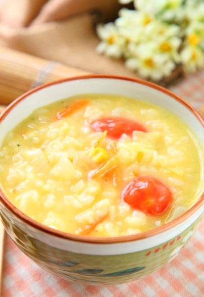 奶油濃湯蔬菜粥