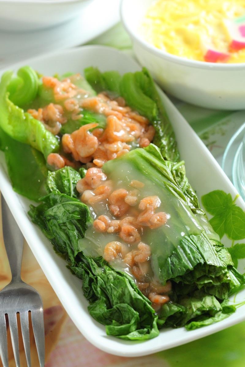 【微波爐上菜】蝦米芥菜心