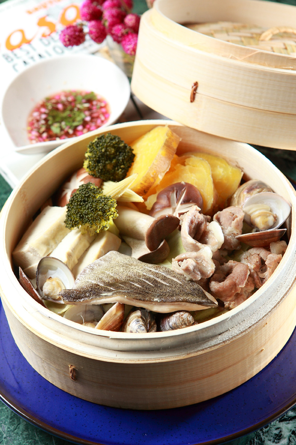 蒸海鮮豬肉