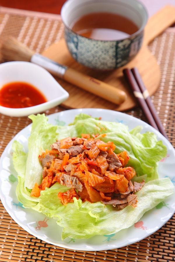 泡菜牛肉萵苣沙拉