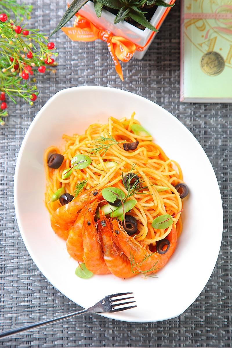 辣味番茄鮮蝦麵