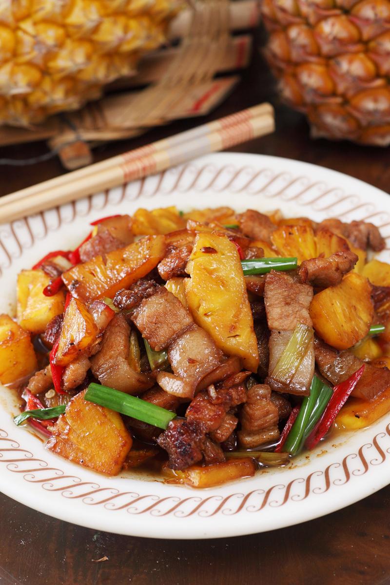鳳梨炒三層肉