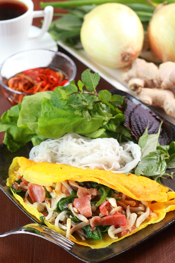 越南鮮蔬素煎餅