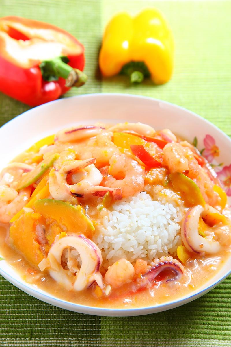 南瓜海鮮燴飯
