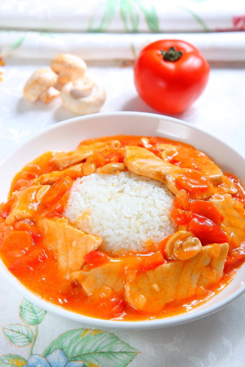 茄汁魚片燴飯