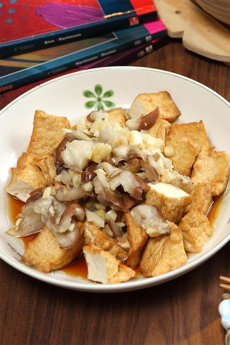 蒜泥茄醬油豆腐