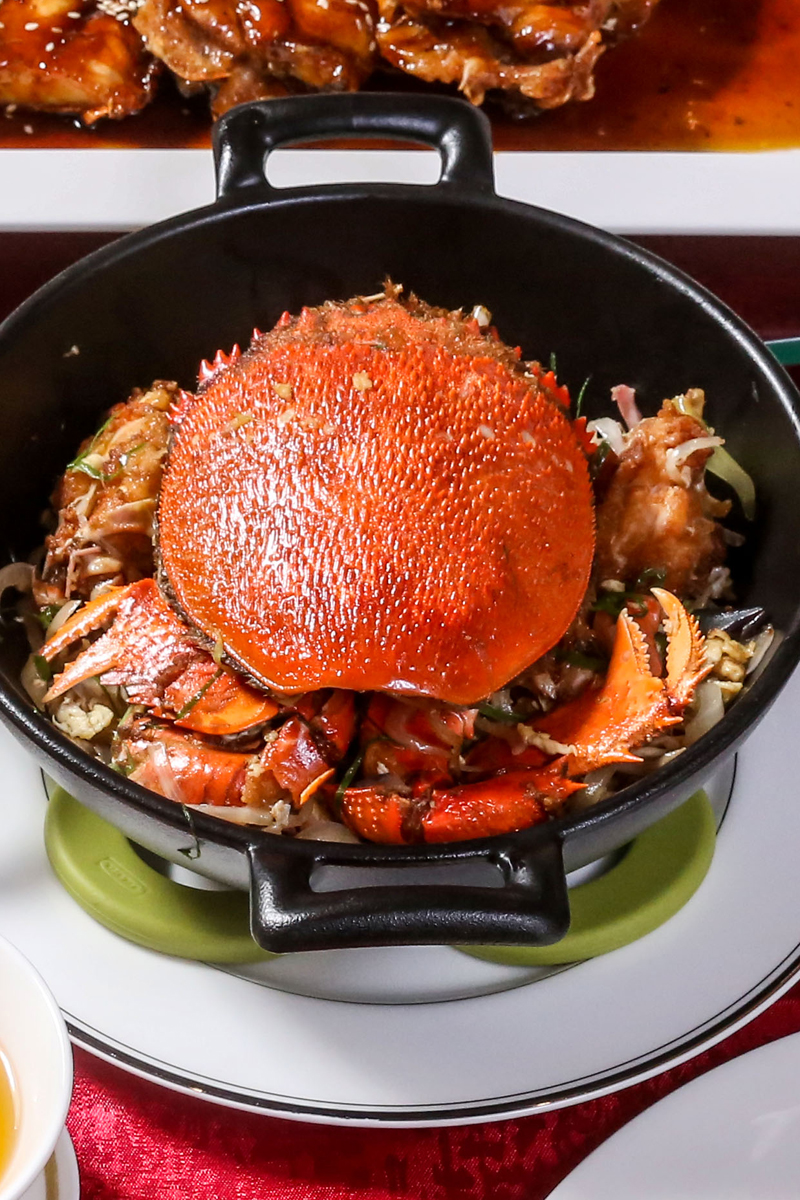 桂花蔥爆肥蟹