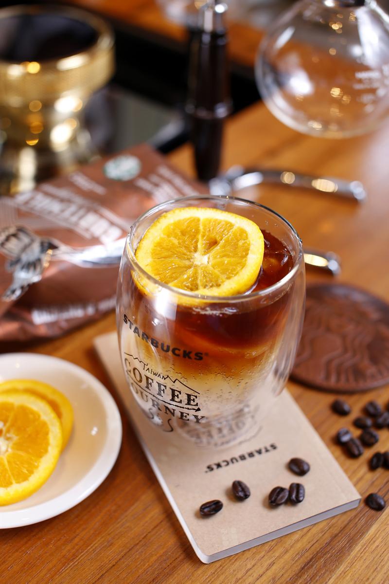 漸層甜橙咖啡