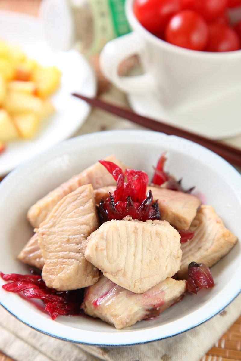 洛神花糖醋魚片