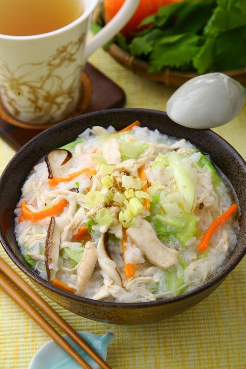蔬菜雞絲粥