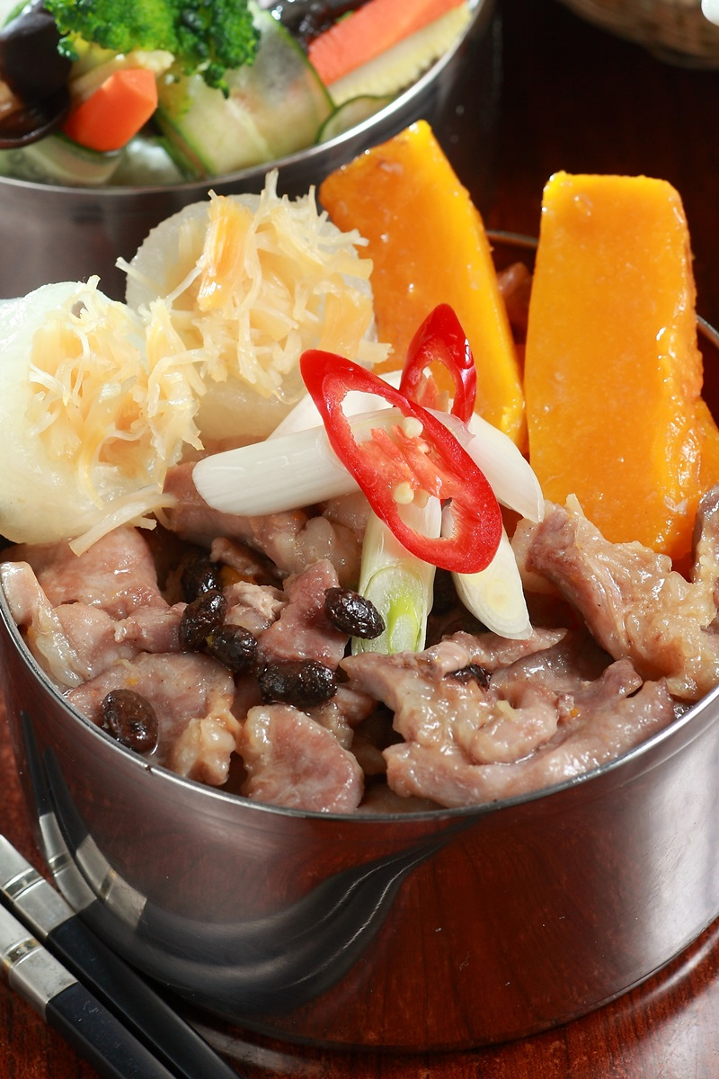 金瓜豆豉蒸豬肉