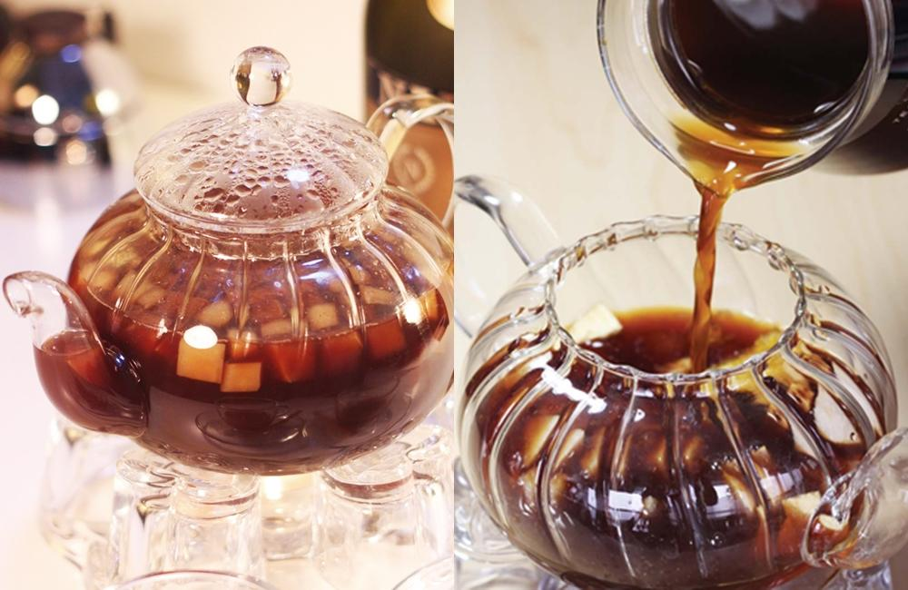 肉桂香料 × 新鮮水果丁!來喝一杯創意特調熱咖啡