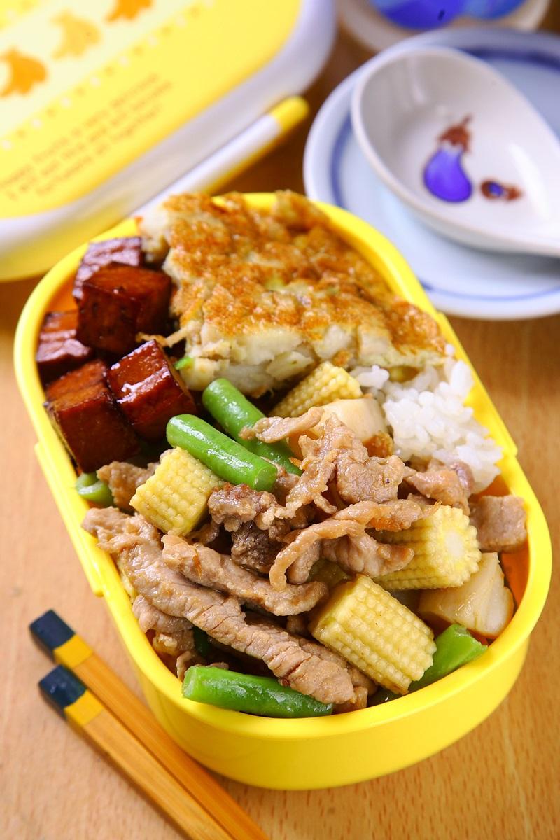 干貝醬炒鮮蔬豬肉絲