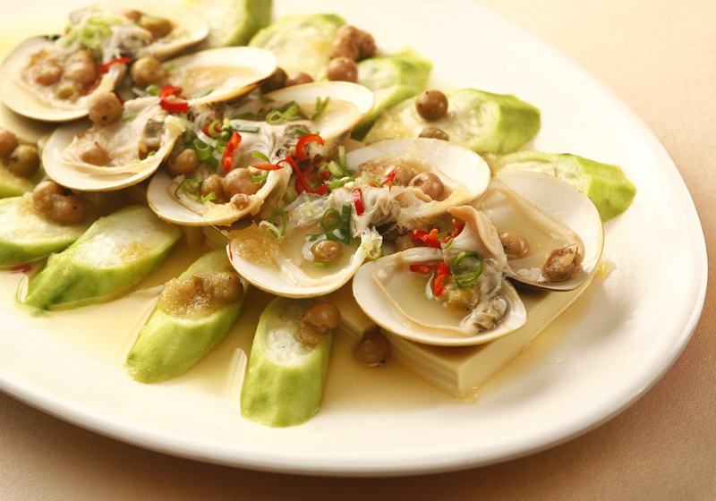 樹子角瓜蒸鮮蛤