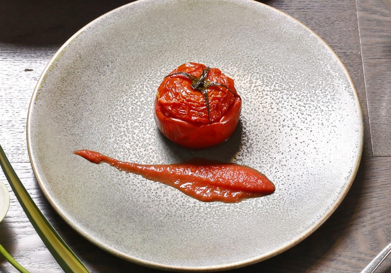 燴時蔬鑲番茄
