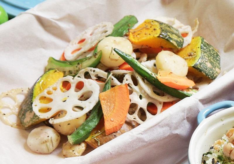 胡麻醬紙包蔬菜