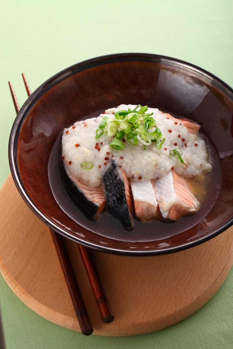 山藥紅藜蒸鮭魚