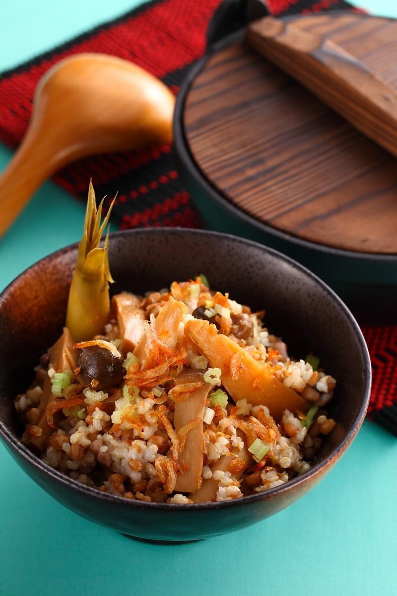 櫻花蝦竹筍五穀炊飯