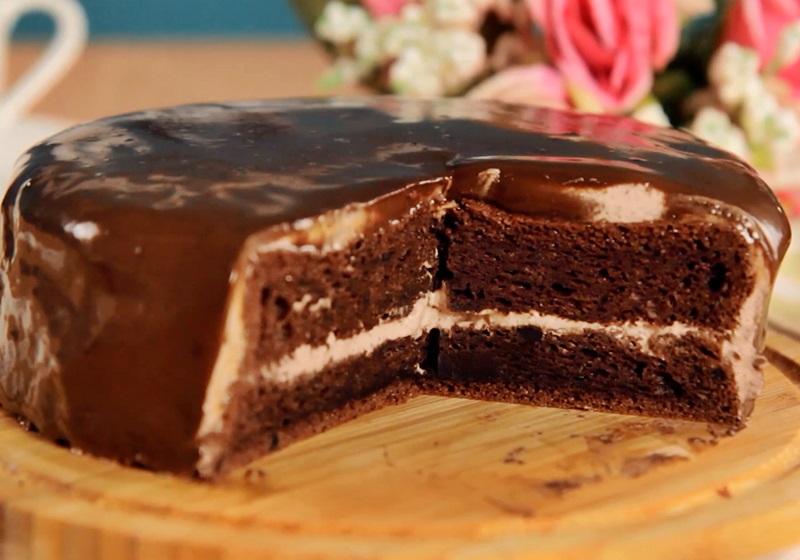 巧克力甘納許蛋糕 (影片)