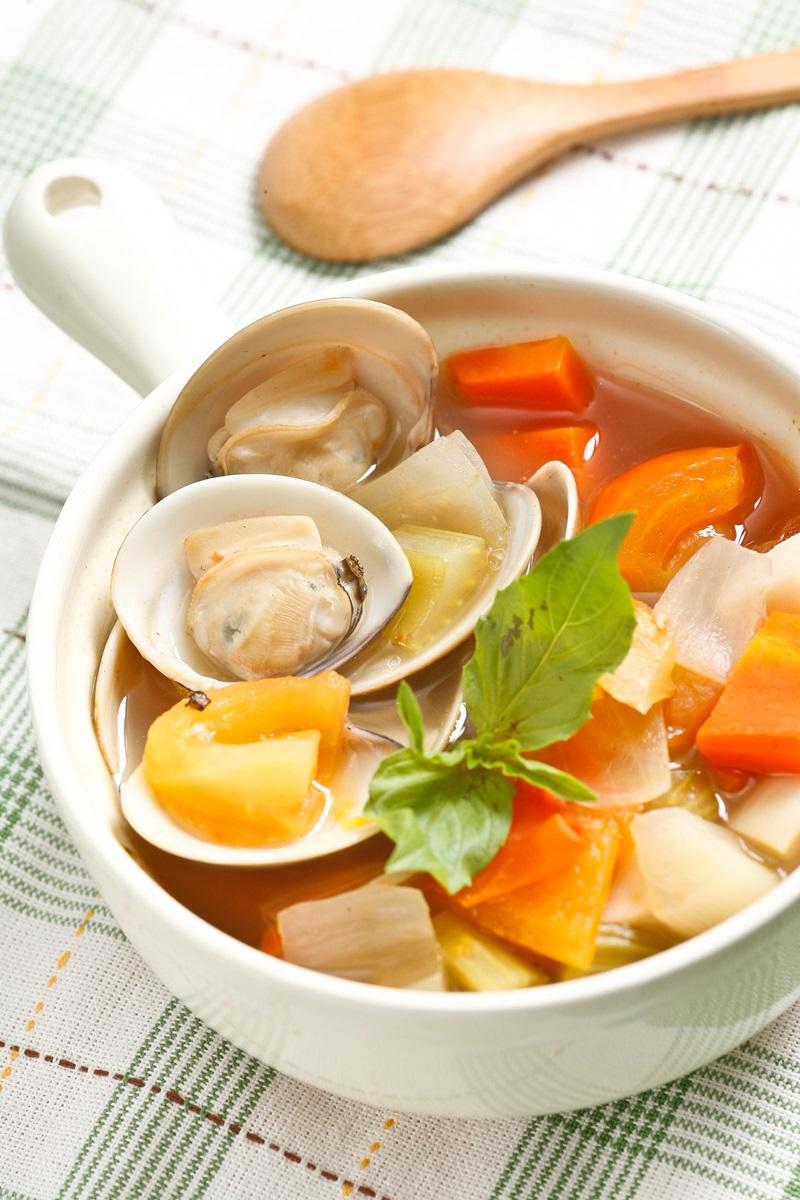 番茄鮑菇蛤蜊湯