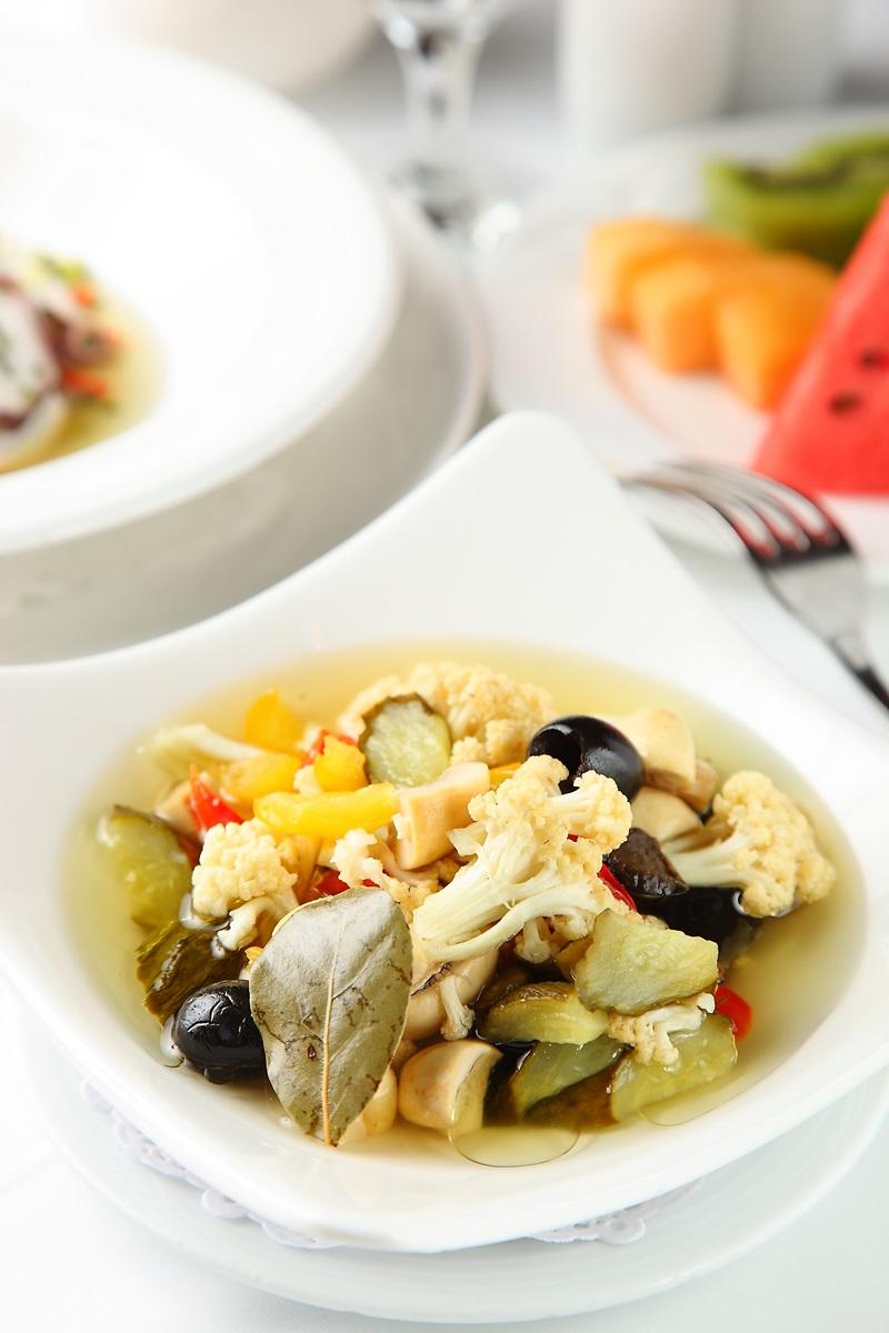 橄欖油醃漬白花菜