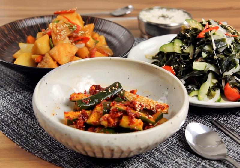 韓式小菜 3 道:拌海帶、泡菜小黃瓜、辣燉馬鈴薯 (影片)