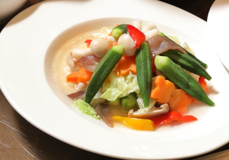 快煮鍋食譜   秋葵鮮時蔬